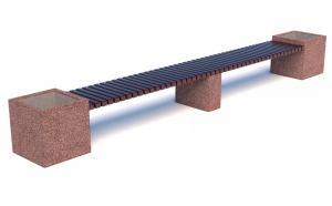 Скамейка бетонная Каролина Лайн