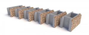 Блок бетонный заборный 400х200x200 мм