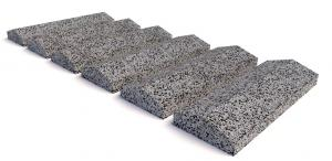 Навершие забора бетонное 700х250x90 мм